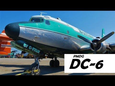 X-Plane - Mit der PMDG DC6 von Yellowknife nach Hay River  (Nur VOR Navigation)