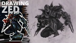 Pencil Drawing - Zed (League of Legends) |Speed Drawing|