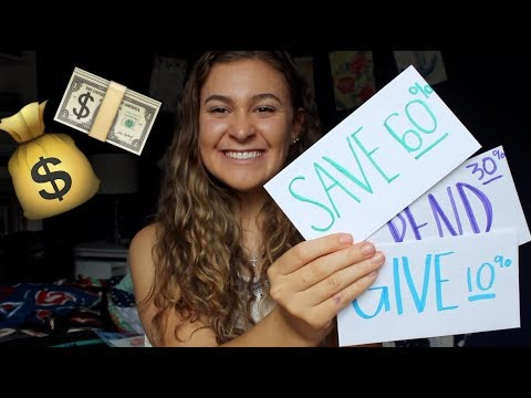 How a Young Person can Organize their MONEY Wisely! (Save, Give, & Spend)