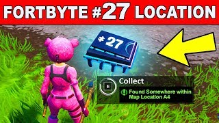 FOUND SOMEWHERE WITHIN MAP LOCATION A4 - Fortnite Fortbyte #27 Location Guide