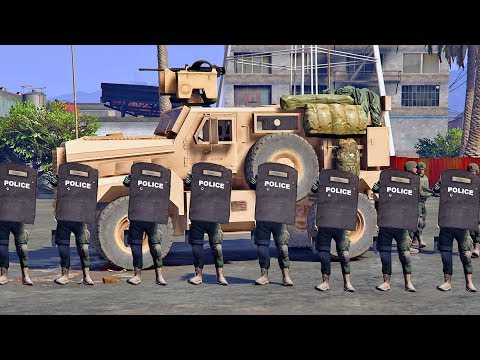 GTA 5 - SEND IN THE SWAT TEAM! LSPD Police Patrol Episode #148 (MRAP SWAT Truck Mod)