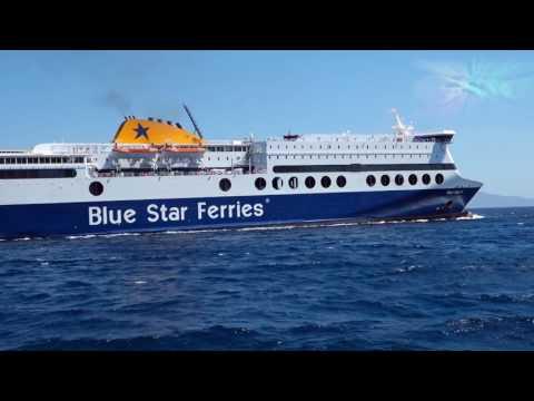 Nissos Mykonos & Blue Star 2 στο λιμάνι της Ερμούπολης