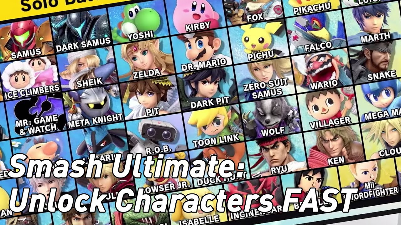 How to cheat character unlocks in Smash Bros Ultimate
