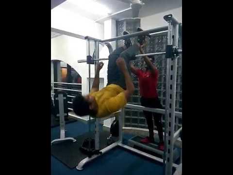 Abs workout @ power world gym Uttarahalli