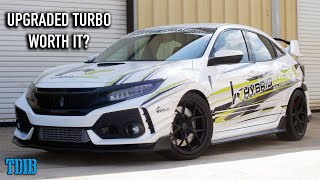 Big Turbo Honda Civic Type R Review! ROASTING the Tires With MORE BOOST!