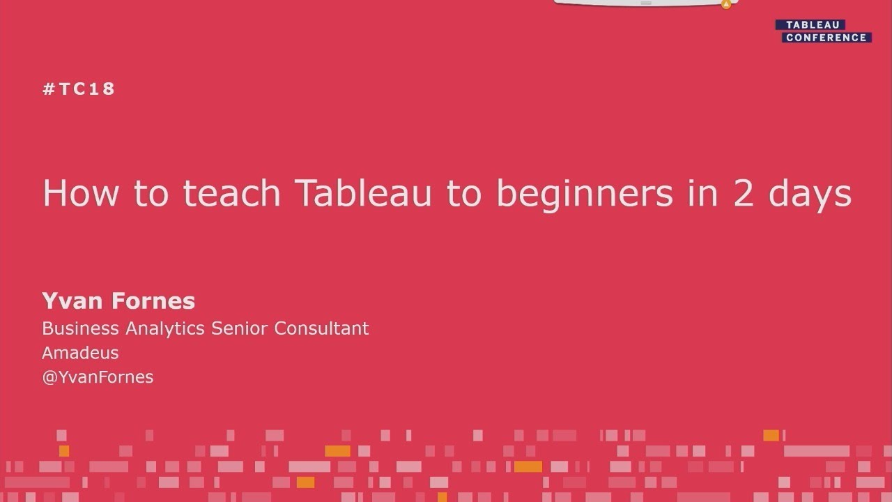 How to teach Tableau to beginners in two days