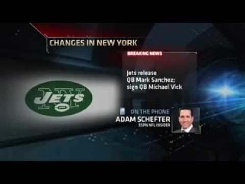 d59ae8f22 Jets Signs Michael Vick - YouTube