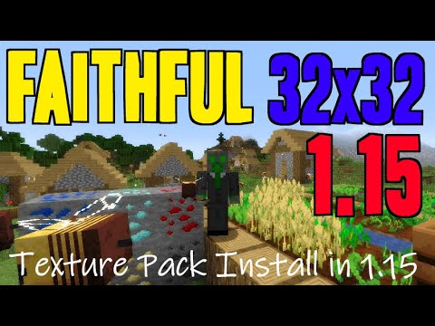 How To Get Faithful Textures In Minecraft 1 15 Download Install Faithful 32x32 1 15 Texture Pack Youtube