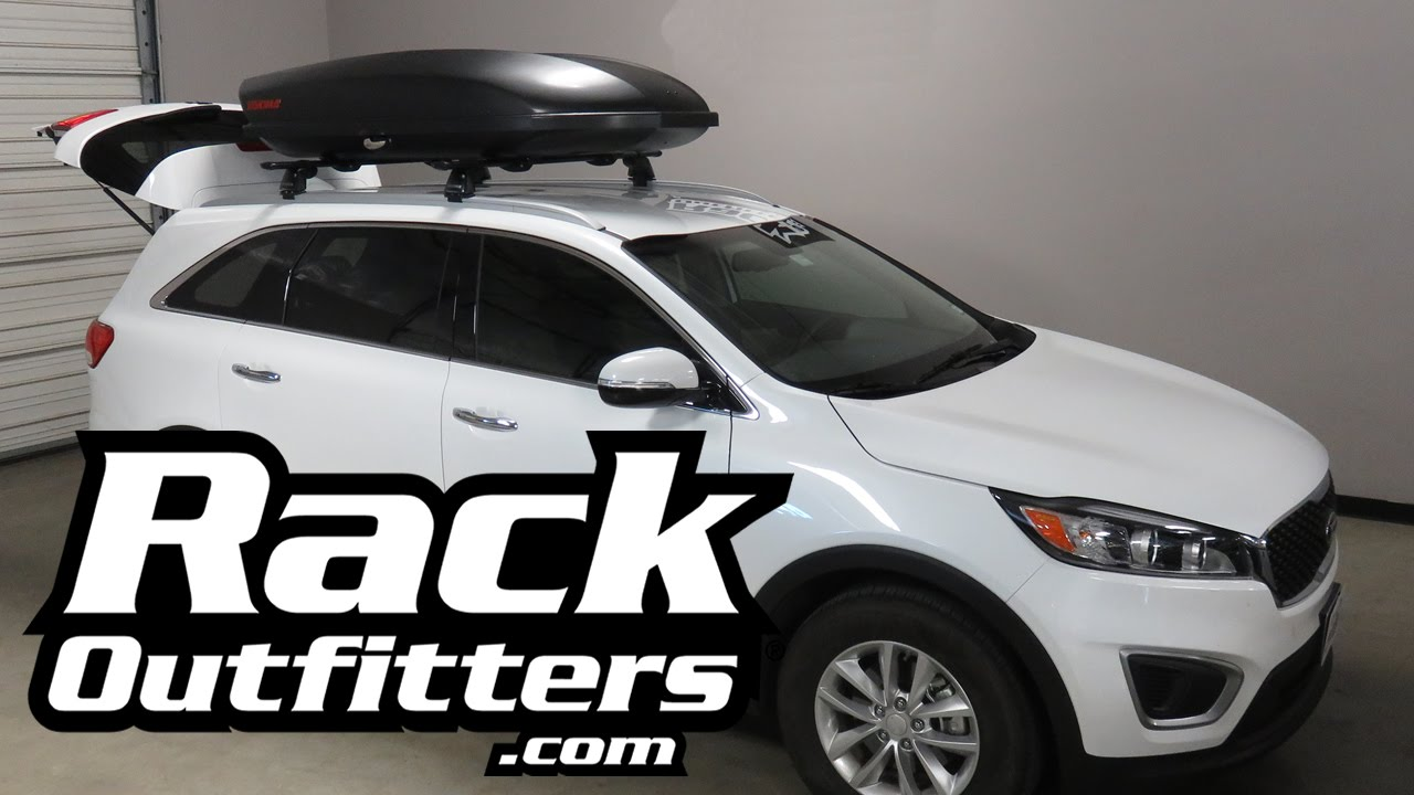Kia Sorento With Yakima Skybox Carbonite 16 Cubic Foot