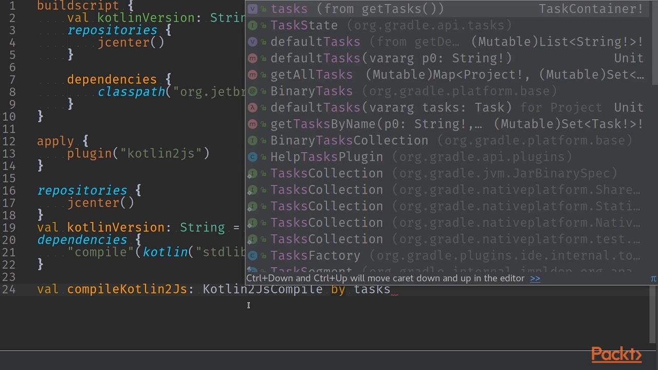 Full Stack Kotlin Development : Kotlin 2 JS Gradle Plugin and Gradle Kotlin  DSL | packtpub com