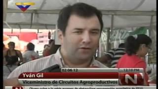Feria de hortalizas. Parroquia El Valle: Caracas:  Viceministro Yván Gil