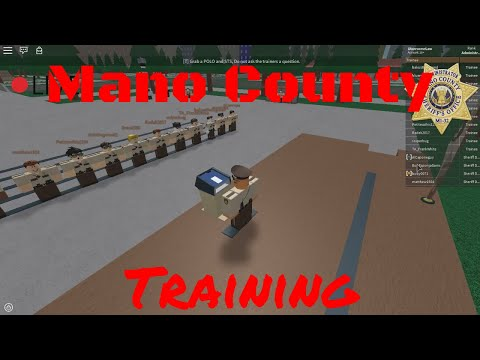 Mano County Sheriff's Office || Training