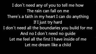 Sunrise Avenue - Dream Like a Child - Lyrics