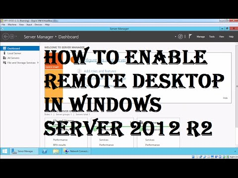 How To Enable Remote Desktop In Windows Server 2012 R2