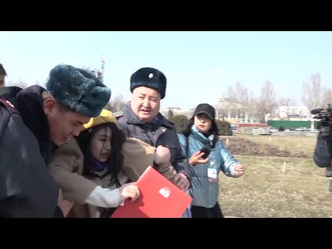 Kyrgyz Police Detain Dozens At Women's Day March | AFP