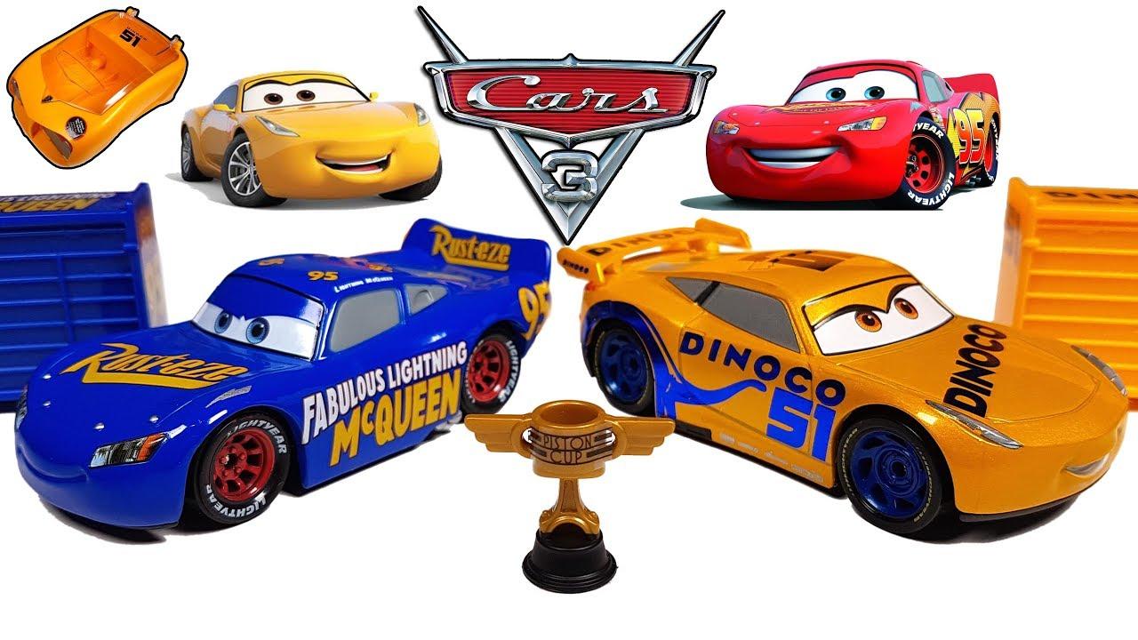 Disney Cars 3 Toys Fabulous Lightning Mcqueen And Dinoco