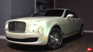 Matte White Bentley Mulsanne on 24 inch Lexani Forged Wheels LF-734