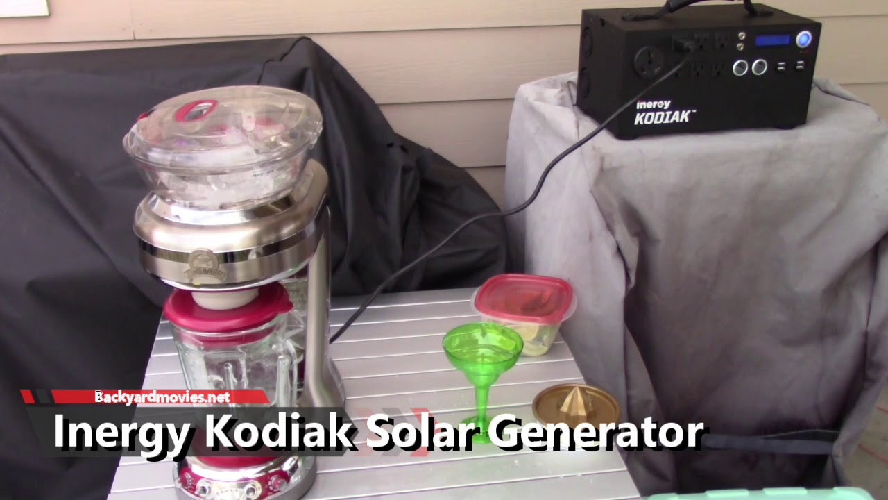 Inergy Kodiak Solar Generator Review | Backyard Movies