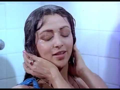 Hema Malini sexy wet in blue towel thumbnail