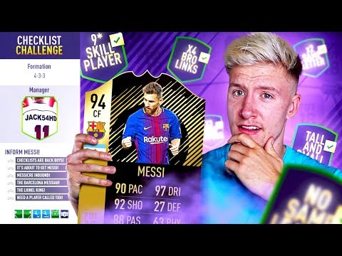 STRIKER MESSI CHECKLIST CHALLENGE 📋 - FIFA 18 Ultimate Team