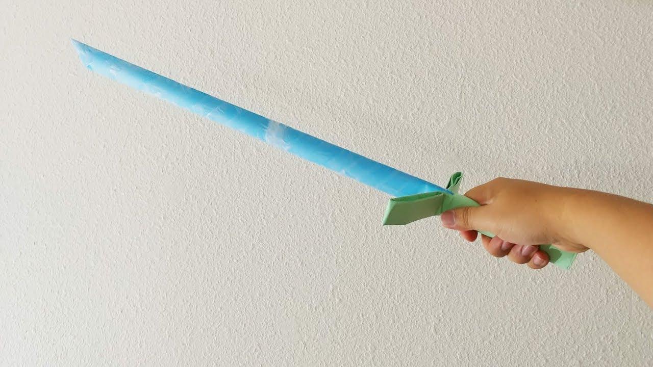 Wie man ein Papier Schwert macht - YouTube