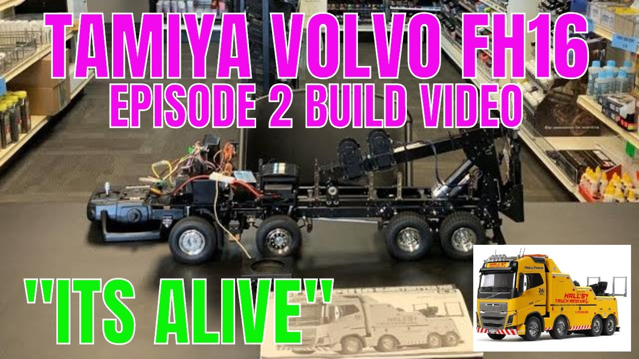 Building the Tamiya 1/14 RC  Volvo FH16 Globetrotter 750 [ episode 2]
