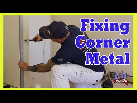 How To Fix A Bent Corner On A Wall.  DIY DRYWALL REPAIRS.
