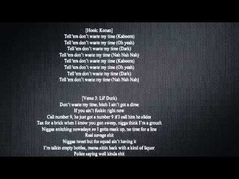 French Montana  Dont Waste My Time ft Chinx Drugz & Lil Durk Lyrics on Screen