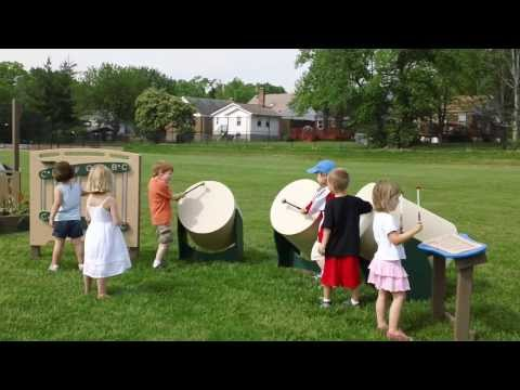 Outdoor Musical Instruments for the Preschool Playground