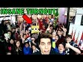 Most INSANE Meet & Greet Crowd EVER Playing Arcade Games!