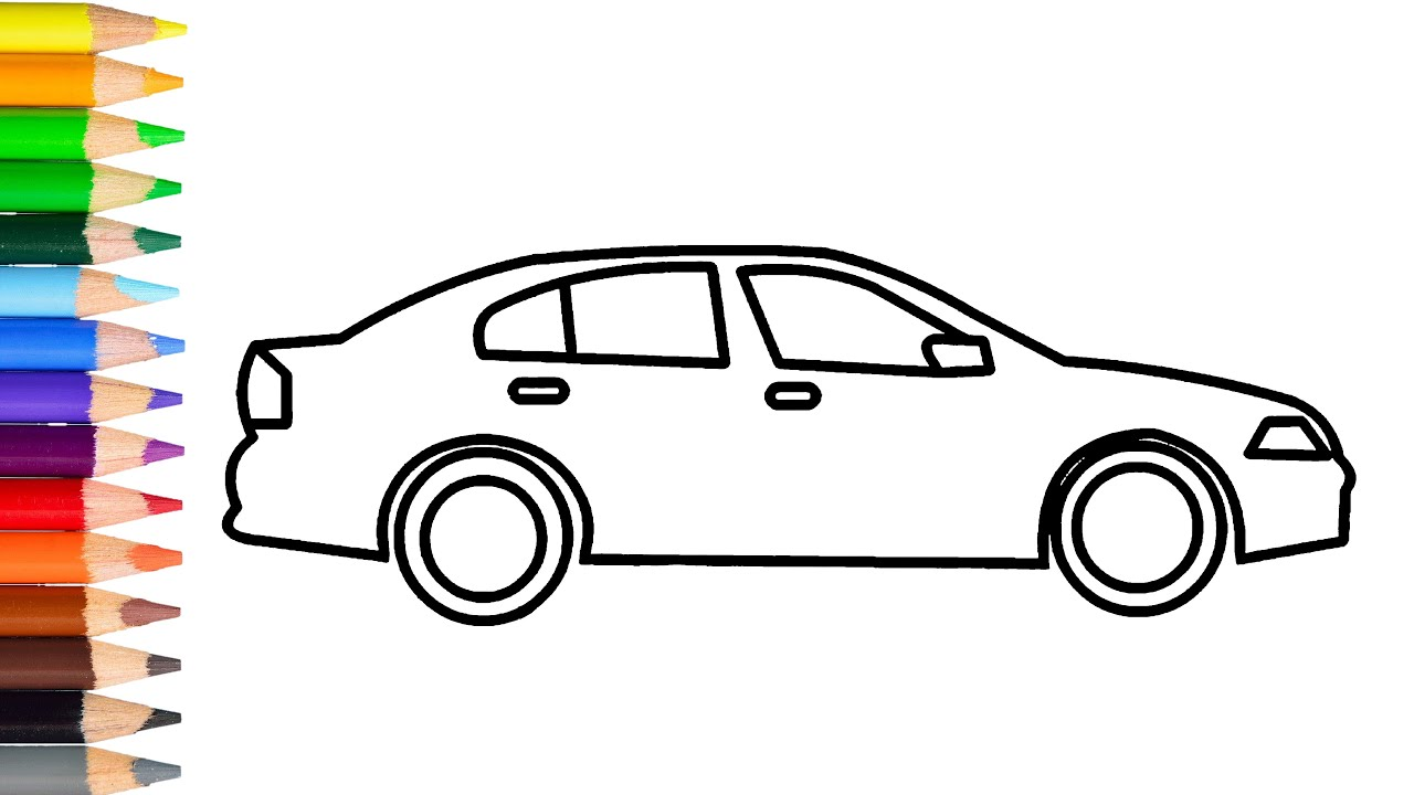 How To Draw Simple Car Step By Step Learn Easy Drawing A Car For