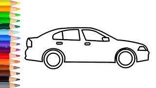 How to Draw Simple Car Step by Step Learn Easy Drawing a Car for Kids
