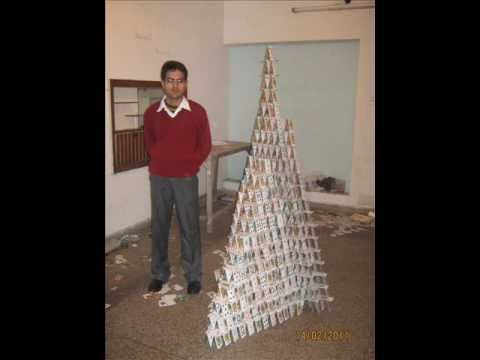 how to build a card pyramid