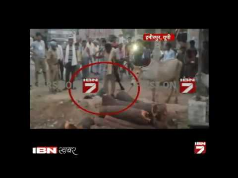 Police brutally beat a man in Hamirpur