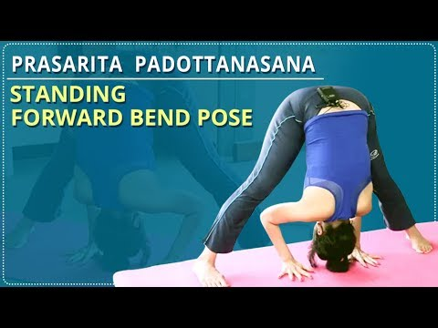 how to do the standing forward bend prasarita