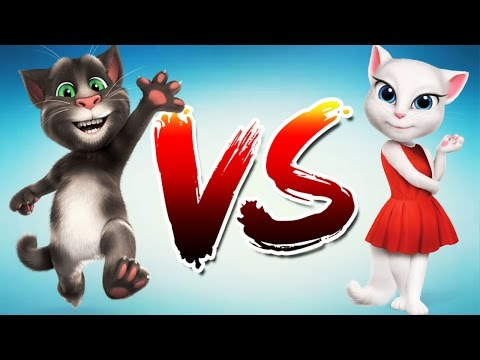 My Talking cat Tom VS My Talking cat Angela 2017 Beginning gameplay. Best game apps for ios android