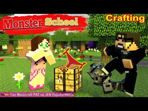 Monster School: Crafting Minecraft Animation Lever Max | PopularMMOs Pat And Jen Minecraft