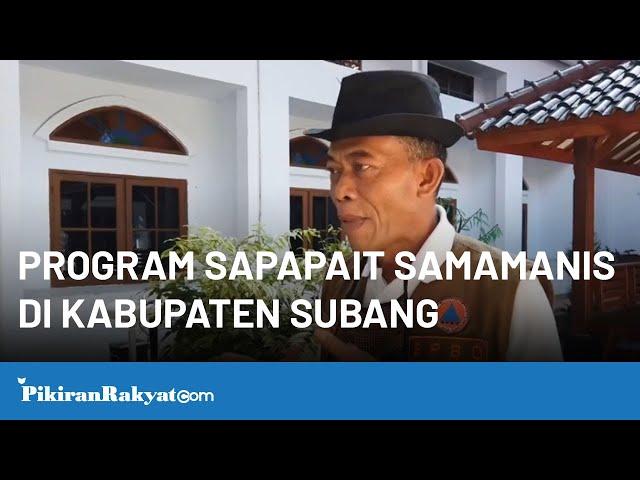 Program Sapapait Samamanis di Kabupaten Subang, Jawa Barat