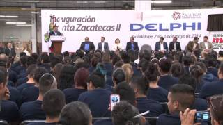 Inaugura MAR Delphi Cableados Planta Zacatecas II