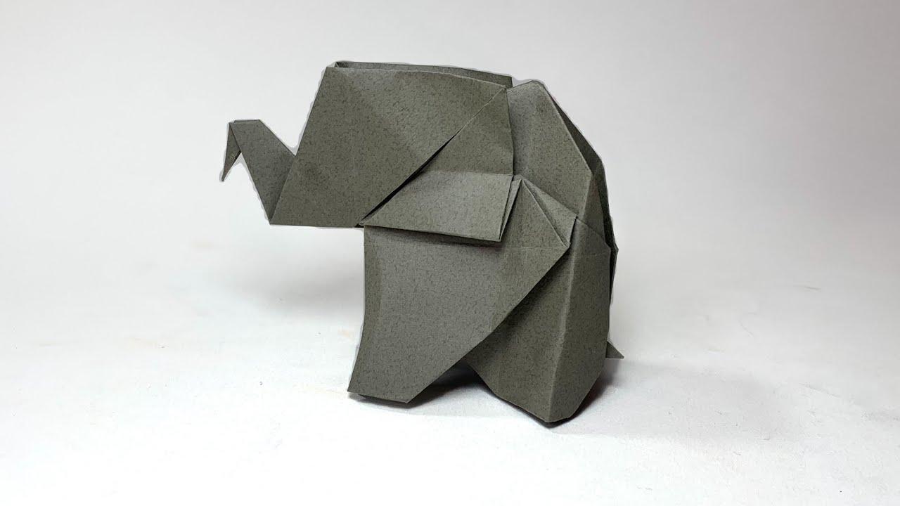 Origami Elephant :: Elefante de papel - YouTube | 720x1280