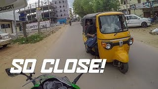 MY FIRST TIME RIDING IN INDIA, CRAZY! (White guy in India)