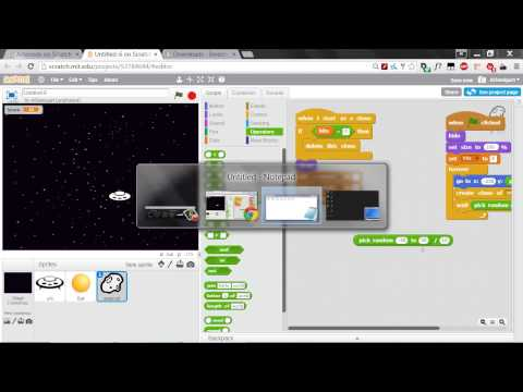 Invent with Scratch 2.0 Screencast - Asteroids