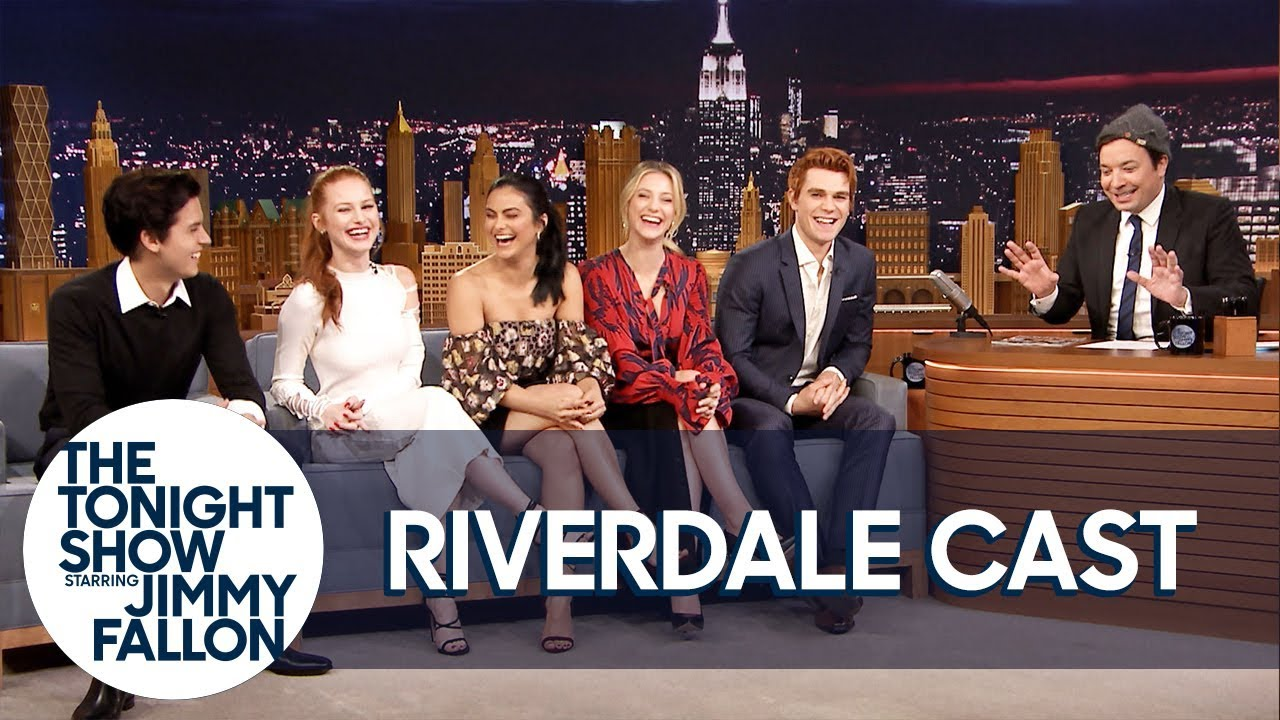 The Cast Of Riverdale Gives Jimmy Fallon His Own Jughead Crown Youtube