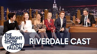 Download The Cast of Riverdale Gives Jimmy Fallon His Own Jughead Crown Mp3 and Videos