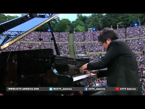Chinese pianist Lang Lang performs with Berlin Philharmonic