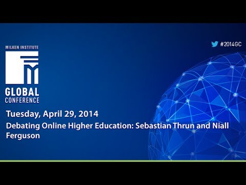 Debating Online Higher Education: Sebastian Thrun and Niall