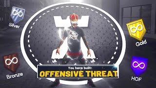 BEST OFFENSIVE THREAT BUILD ON NBA 2K20 🔥 BEST BADGES FOR PARK