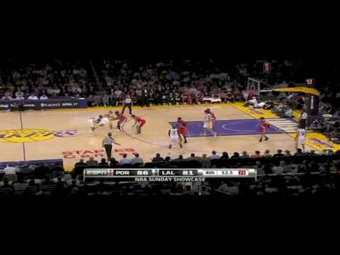 Trail Blazers vs. Lakers 4-11-10