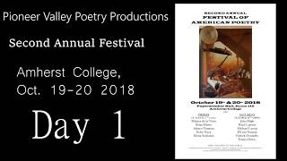 Pioneer Valley Poetry Festival 2018: DAY ONE