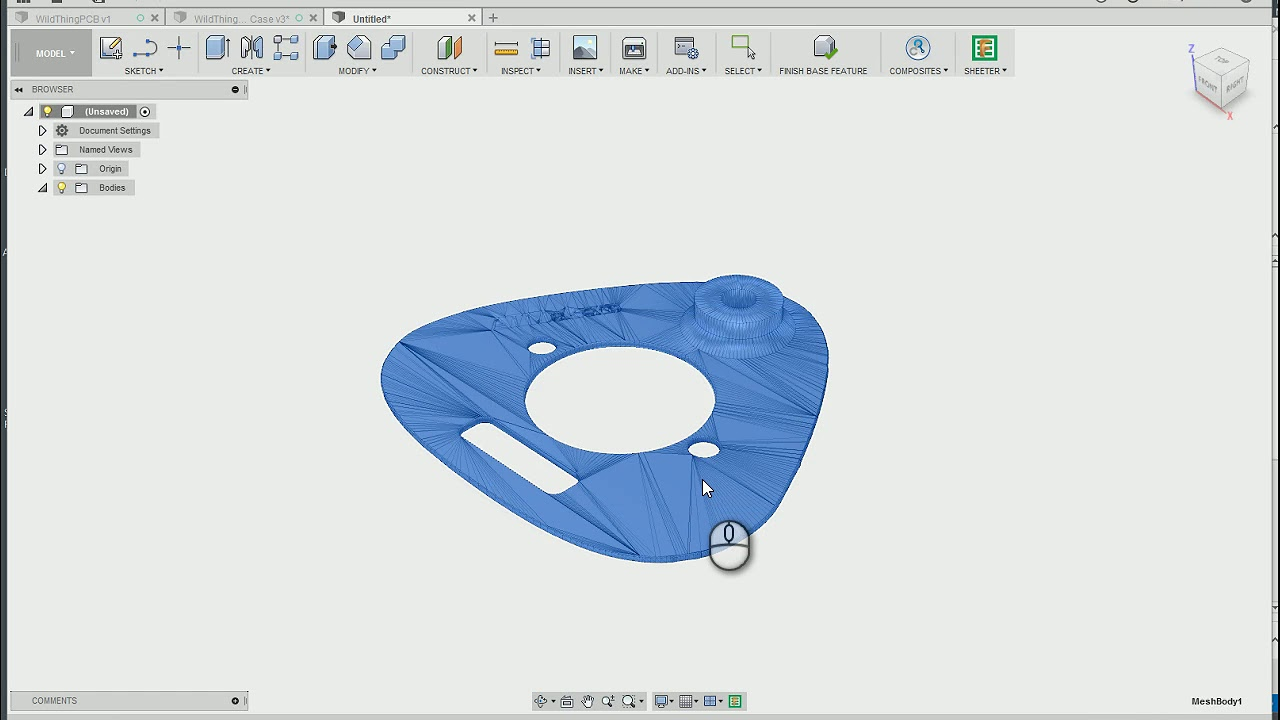 Mesh to solid body in Fusion 360